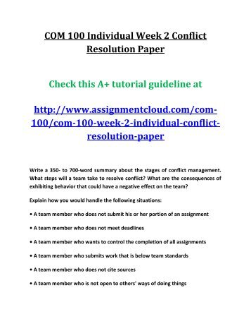 conflict resolution worksheet soc 110 Describe methods of conflict resolution and management that either were utilized, or could be utilized in this situation  110 assignment week 1 working in teams worksheet soc 110 assignment week 2 building and strengthening teams worksheet soc 110 assignment week 3 leadership and conflict management presentation soc 110 assignment week 4.