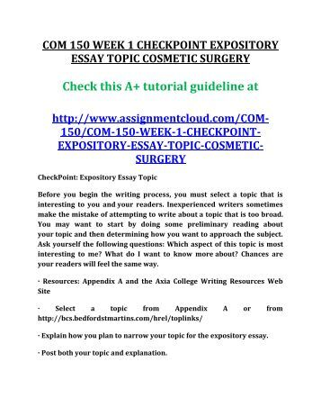 Expository essay on plastic surgery