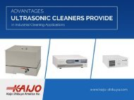 Why Ultrasonic Cleaners are Effective in Industrial Cleaning Applications