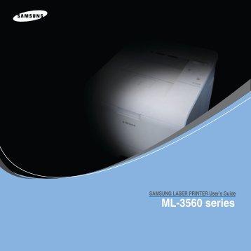 Samsung ML-3560 - ML-3560/XAA - User Manual ver. 5.00 (ENGLISH,6.09 MB)