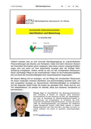 KMU-Nachfolgeregelung - Auer Consulting & Partner