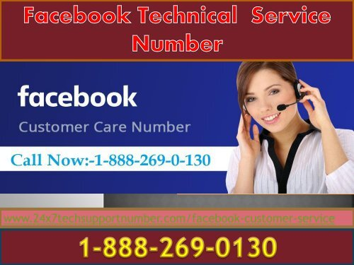 1-888-269-0130 Facebook customer service phone number