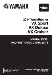 Yamaha VX - 2014 - Manuale d'Istruzioni Italiano