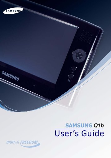 Samsung Q1B - NP-Q1BV000/SEA - User Manual (ENGLISH)