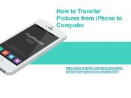 How to Transfer Pictures from iPhone to Computer?