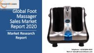 Global Foot Massager Sales Market Report 2020