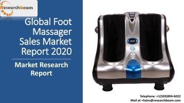 Global Foot Massager Sales Market Report 2020