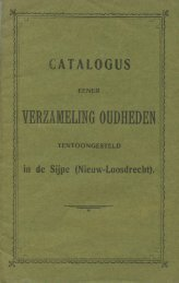 Catalogus Verzameling Oudheden 1903
