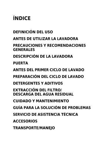 KitchenAid PURE 1400/7 D - Washing machine - PURE 1400/7 D - Washing machine ES (859200312000) Istruzioni per l'Uso
