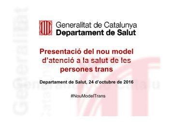 Presentació del nou model d'atenció a la salut de les persones trans