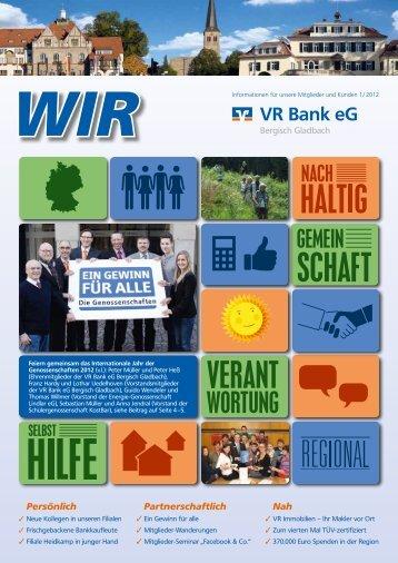 Ein Gewinn für alle - VR Bank eG Bergisch Gladbach