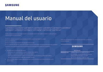 "Samsung 32"" Curved LED Monitor - LC32F391FWNXZA - User Manual ver. 1.0 (SPANISH,1.04 MB)"