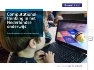 Computational thinking in het Nederlandse onderwijs