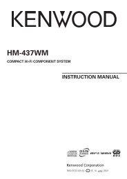 Kenwood HM-437WM - Home Electronics English (2005/5/10)