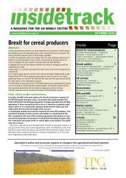 Brexit for cereal producers