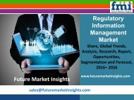 Regulatory Information Management Market Analysis and Value Forecast Snapshot by End-use Industry 2016-2026