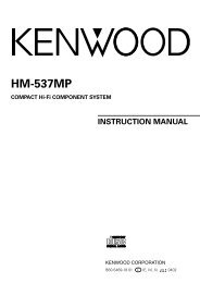 Kenwood HM-537MP - Home Electronics English (2004/6/1)