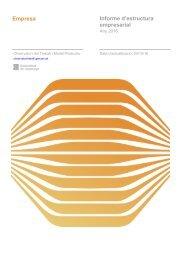 Empresa Informe d'estructura empresarial