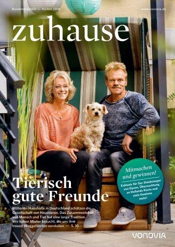 """Vonovia Kundenmagazin """"zuhause"""" Herbstausgabe 2016"""