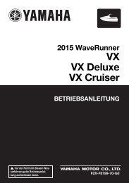 Yamaha VX - 2015 - Manuale d'Istruzioni Deutsch