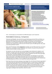 Informationen zu den angebotenen Pferdeversicherungen der IVK ...
