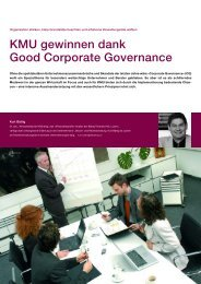 KMU gewinnen dank Good Corporate Governance
