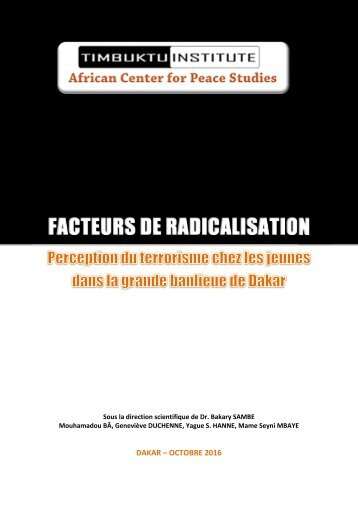 FACTEURS DE RADICALISATION