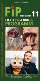 Fichtelgebirgs-Programm - November 2016