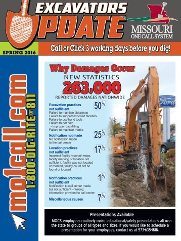 Spring 2016 Excavator Update