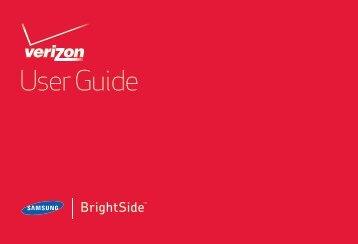 Samsung Brightside (Verizon) - SCH-U380HKAVZW - User Manual (ENGLISH(North America))