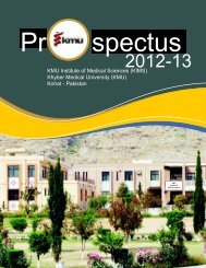 KIMS Prospectus 2012-2013 - Khyber Medical University