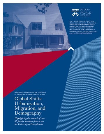 Global Shifts Urbanization Migration and Demography