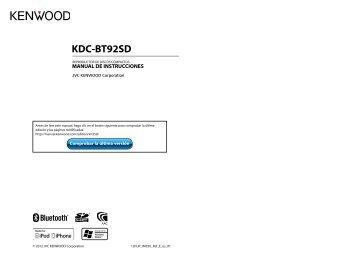 Kenwood KDC-BT92SD - Car Electronics Spanish ()