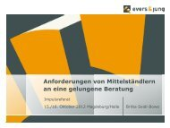 Beratertage 2012: Präsentation Britta Seidel-Bowe, evers
