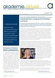 Ausgabe 2/2012 - Akademie der Hochschule Biberach