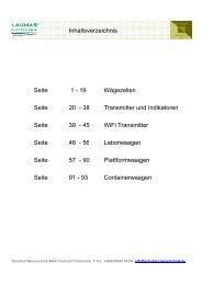 Katalog Produktübersicht Waagen und Komponenten