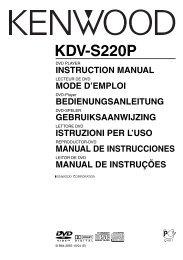 Kenwood KDV-S220P - Car Electronics English, French, German, Dutch, Italian, Spanish, Portugal (2004/8/25)