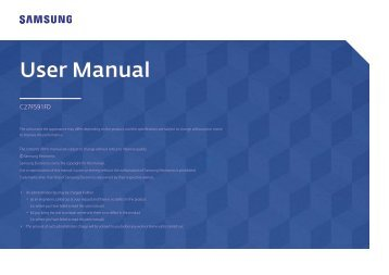 "Samsung 27"" Curved LED Monitor - LC27F591FDNXZA - User Manual (ENGLISH)"