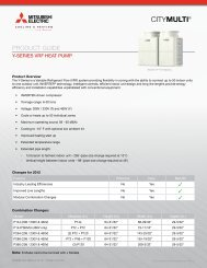 PRODUCT GUIDE - Mitsubishi Electric Cooling & Heating