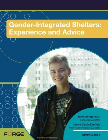 Gender-Integrated Shelters Experience and Advice