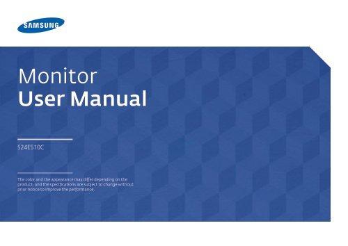"Samsung 23.5"" Curved LED Monitor with High Glossy Finish - LS24E510CS/ZA - User Manual (ENGLISH)"