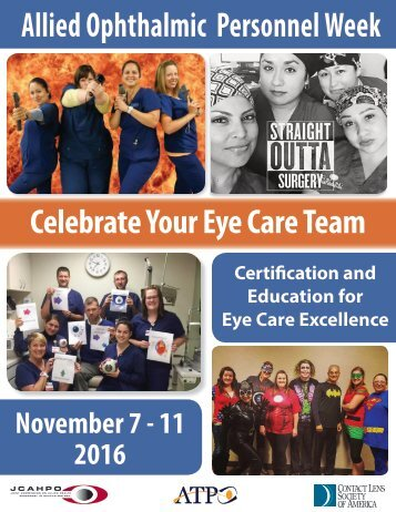 Allied Ophthalmic Personnel Week