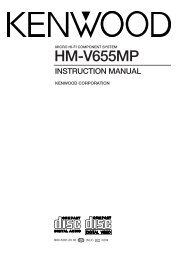 Kenwood HM-V655MP - Home Electronics English (2002/4/1)