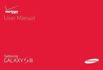 Samsung Galaxy S III 16GB (Verizon) - SCH-I535ZKBVZW - User Manual ver. LF2_F5 (ENGLISH(North America),13.79 MB)