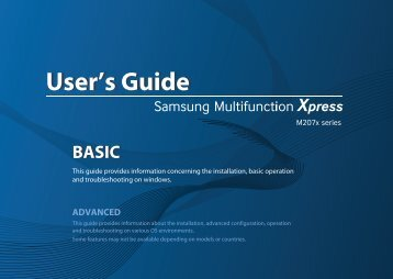 Samsung MultifunctionPrinter Xpress M2070FW - SL-M2070FW/XAA - User Manual ver. 1.0 (ENGLISH,36.61 MB)