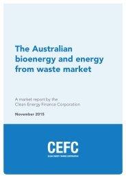 The Australian bioenergy and energy from waste market