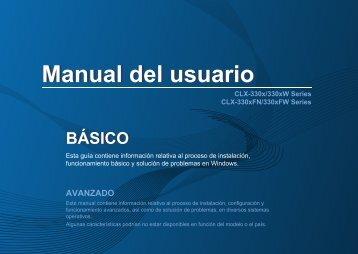 Samsung Color Laser Multifunction Printer - 19/4 PPM - CLX-3305FW/XAC - User Manual ver. 1.0 (SPANISH,15.33 MB)