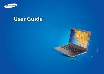 "Samsung Series 5 13.3"" UltraTouch - NP540U3C-A01UB - User Manual (Windows 8) (ENGLISH)"