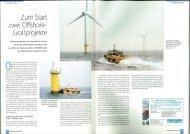 Zu m Start zwei Offshore- Grollprojekte - We@Sea