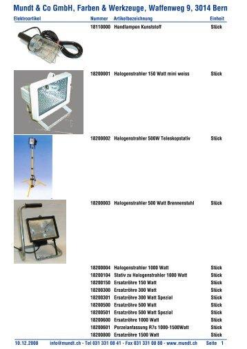 & Co GmbH, Farben & Werkzeuge, Waffenweg 9, 3014 Bern